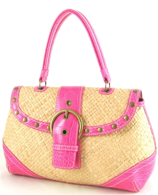 bulk handbag with pink trim