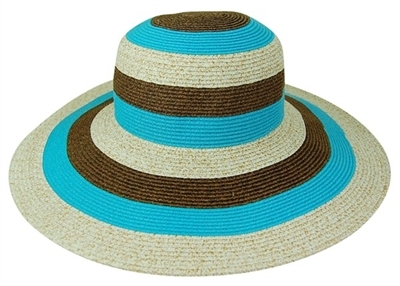 bulk sun hats colorblock stripes floppy