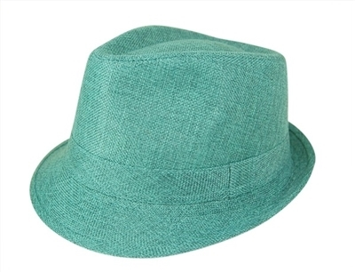 cheap hats wholesale unisex linen fedora hat