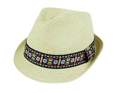 unisex fedora tribal band bulk straw hats
