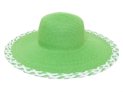 UPF 50+ wide brim green floppy hats in bulk